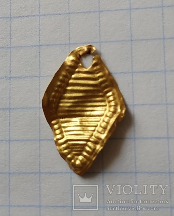Золотая накладка ЧК