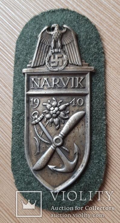 Нарукавный Щит Нарвик 1940, Третий Рейх / Германия Копия, фото №2