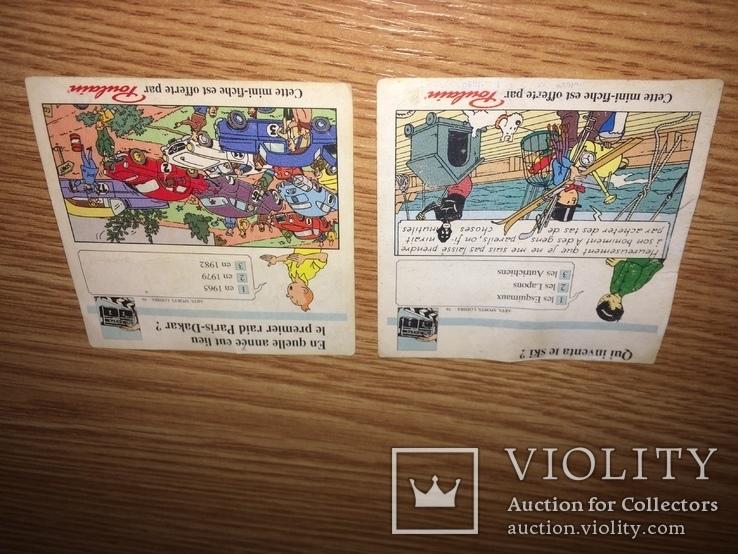 20шт. ''Poulain'' Большая Коллекция вкладышей / лото серия пачка Франция 80-90х ., фото №5
