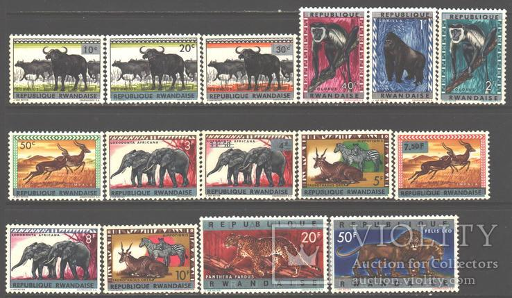 Руанда. 1964. Фауна **.