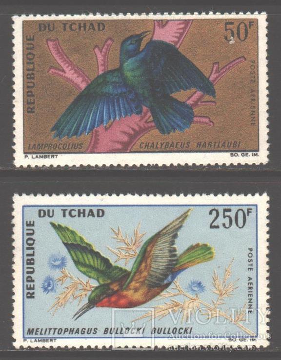 Чад. 1967. Птицы **.