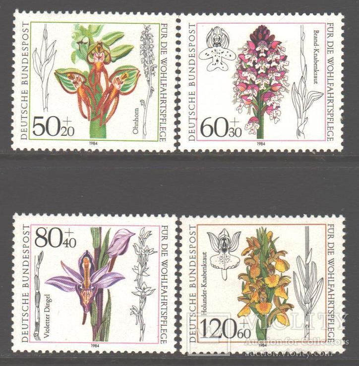 ФРГ. 1984. Орхидеи **.