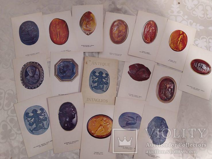 Набор открыток античные инталии, фото №2