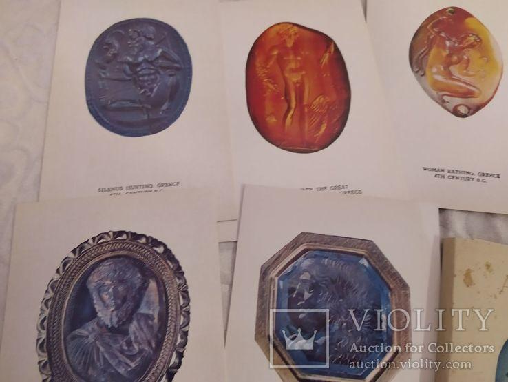 Набор открыток античные инталии, фото №4