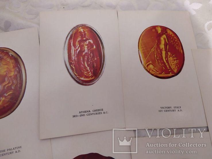Набор открыток античные инталии, фото №5