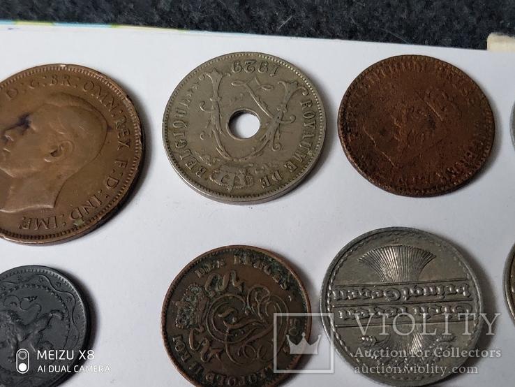 12 старых  довоенных монет Европы, фото №3