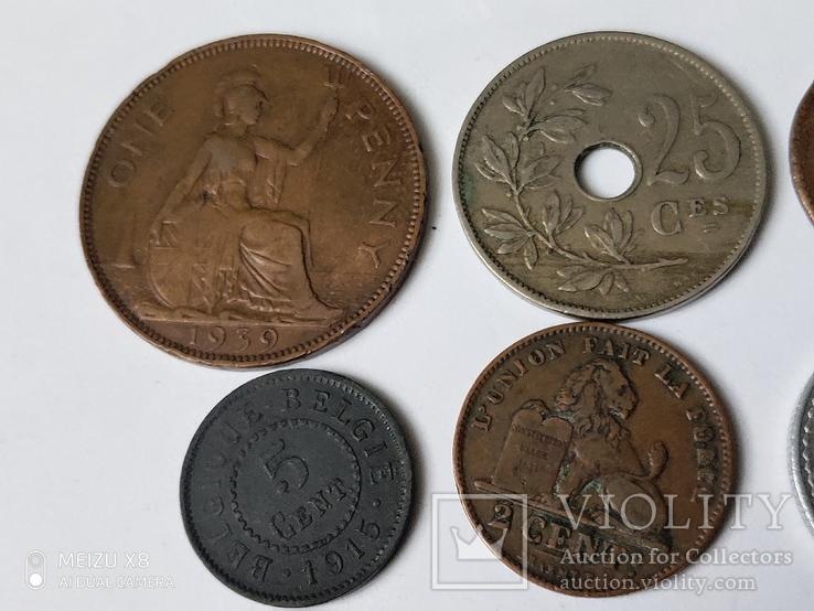 12 старых  довоенных монет Европы, фото №7