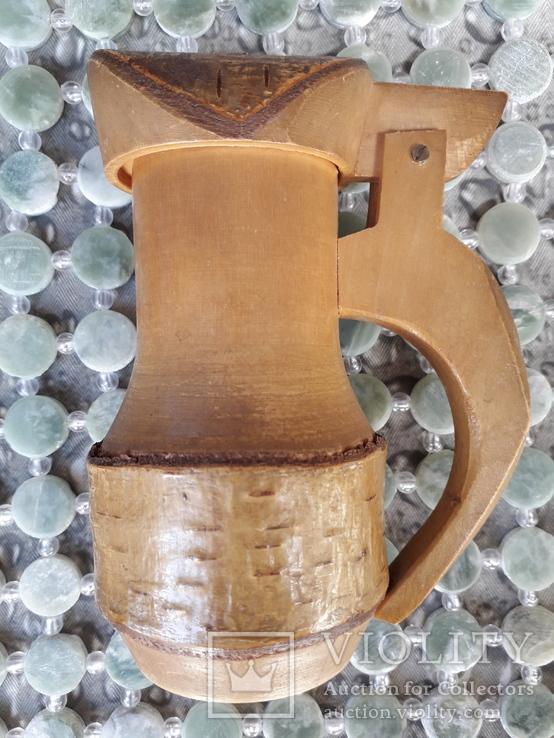 Дерев'яний кухоль, фото №3