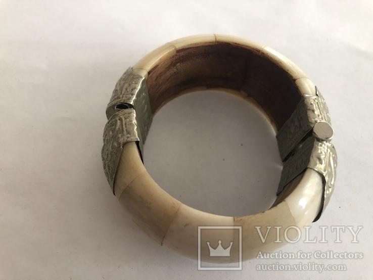 Браслет из кости Индия винтаж кость, фото №4