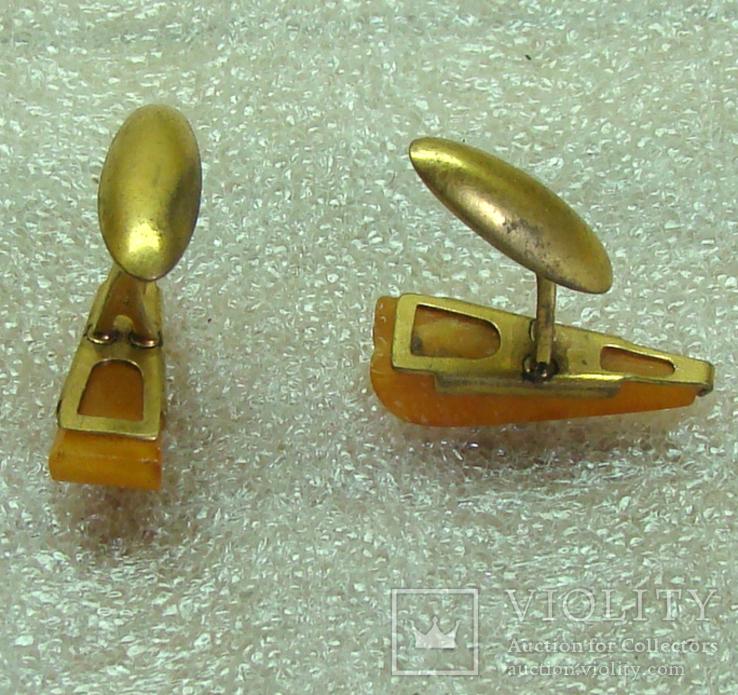 Янтарные запонки ссср, фото №5