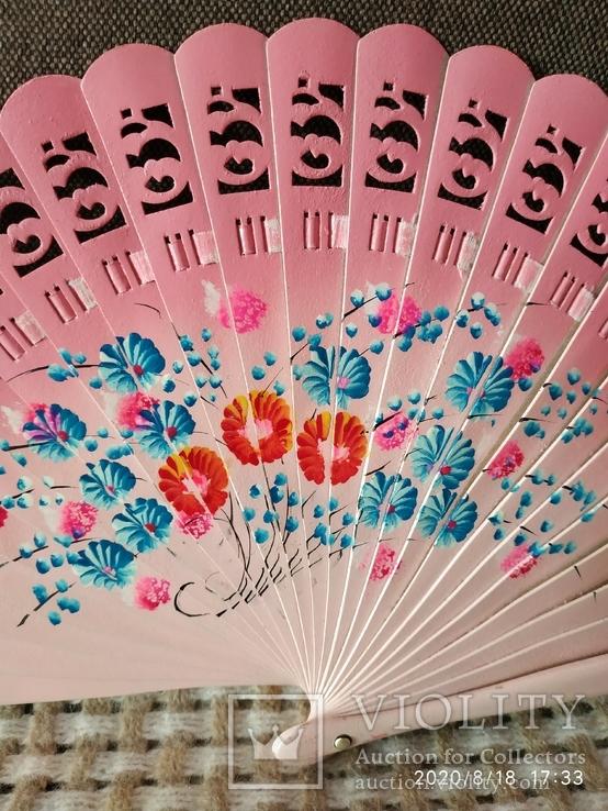 Веер розовый дерево цветы, фото №4