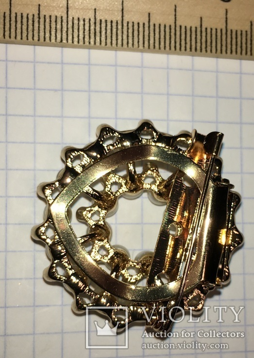 Дресс-клип, зажим для шарфа с булавкой (с жемчужинками) / дрес кліп з перлинками + бонус, фото №5
