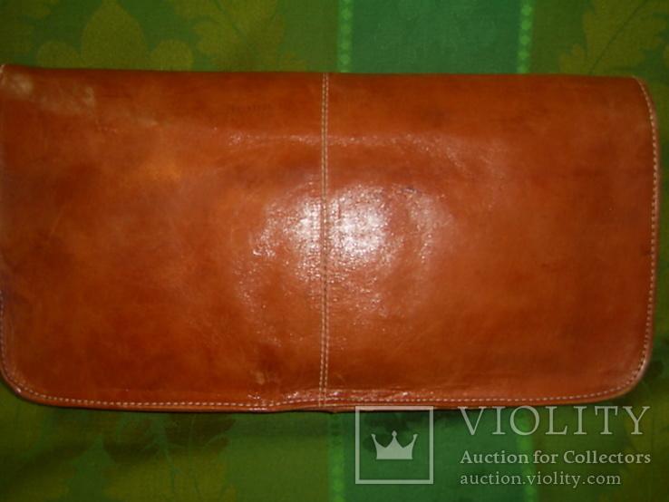 Клатч-сумочка трансформер кожаный. винтажный 40-50е годы, фото №3