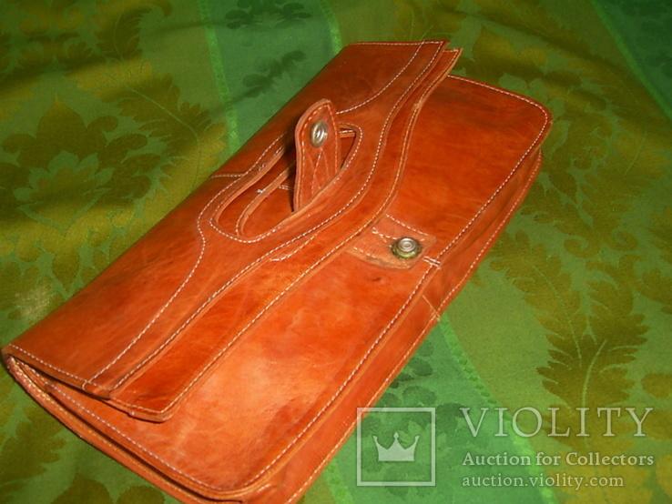 Клатч-сумочка трансформер кожаный. винтажный 40-50е годы, фото №4