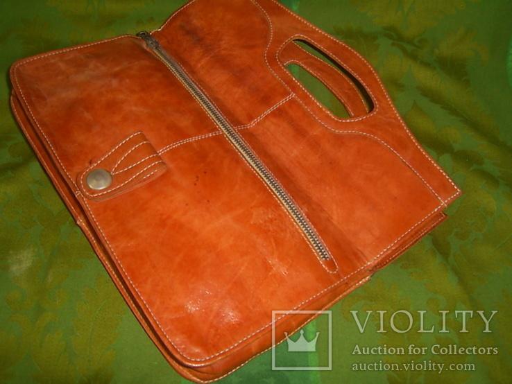 Клатч-сумочка трансформер кожаный. винтажный 40-50е годы, фото №6