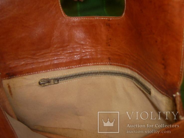 Клатч-сумочка трансформер кожаный. винтажный 40-50е годы, фото №9