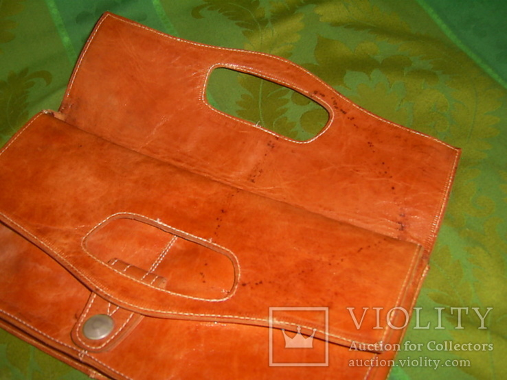 Клатч-сумочка трансформер кожаный. винтажный 40-50е годы, фото №10