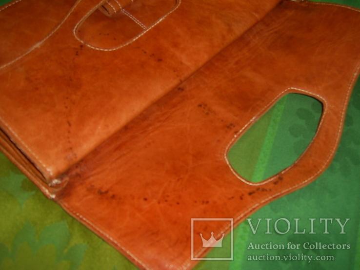 Клатч-сумочка трансформер кожаный. винтажный 40-50е годы, фото №11