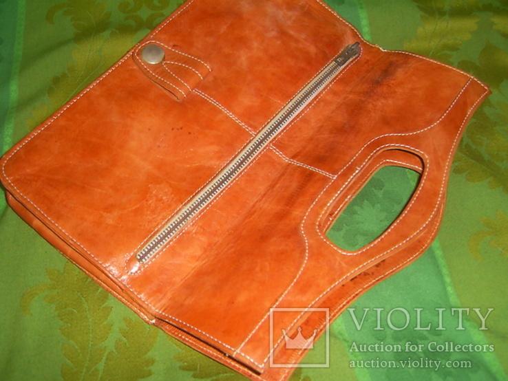 Клатч-сумочка трансформер кожаный. винтажный 40-50е годы, фото №12