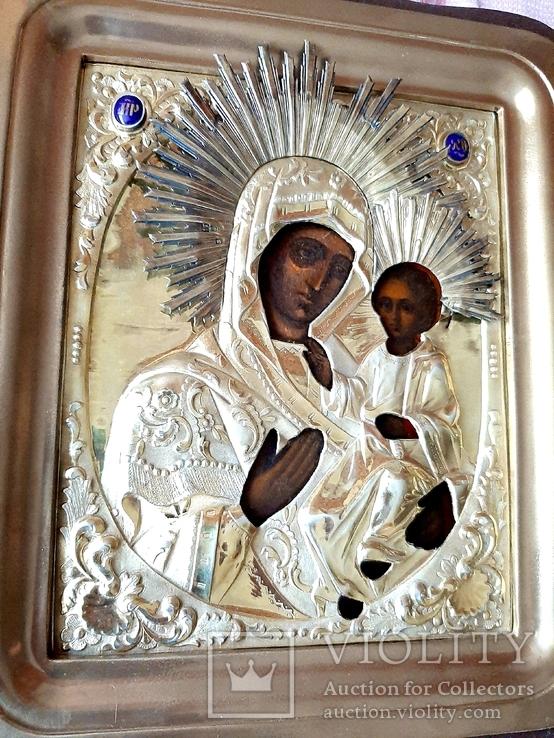 Икона Богородица.  Дмитрий Орлов 1846 г. Финифти, золочение., фото №2