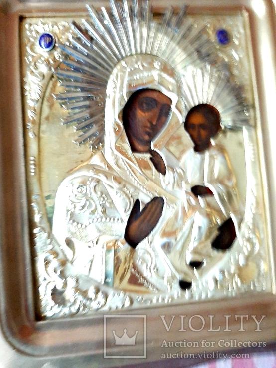 Икона Богородица.  Дмитрий Орлов 1846 г. Финифти, золочение., фото №5