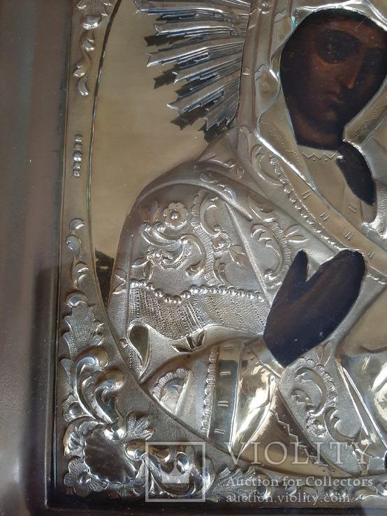 Икона Богородица.  Дмитрий Орлов 1846 г. Финифти, золочение., фото №10