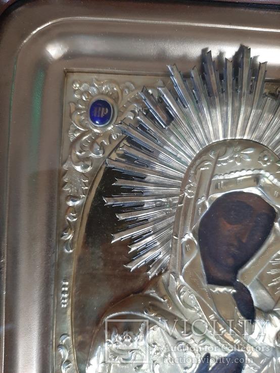 Икона Богородица.  Дмитрий Орлов 1846 г. Финифти, золочение., фото №11