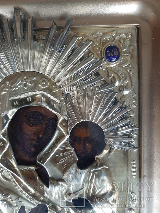 Икона Богородица.  Дмитрий Орлов 1846 г. Финифти, золочение., фото №12