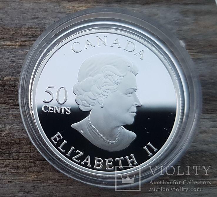 Канада 50 центов 2006 г. Серебро. Бабочка, фото №3