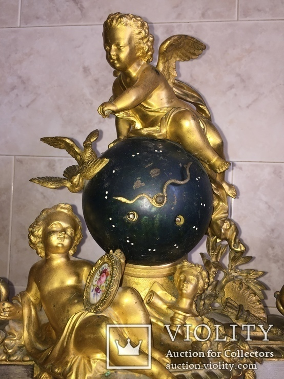 Каминные часы Земной шар, фото №4