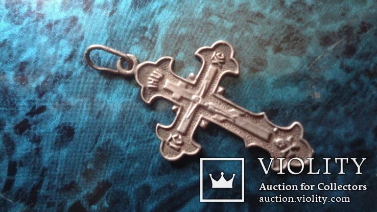 Крестик серебро (10.9.2), фото №2