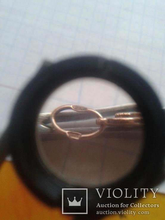 Серебряный крестик в позолоте, 925*, фото №5
