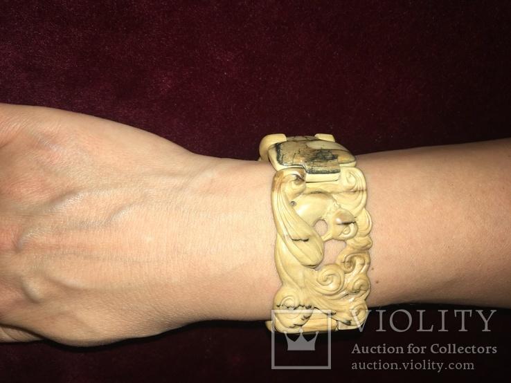Красивый браслет из кости мамонта, фото №5