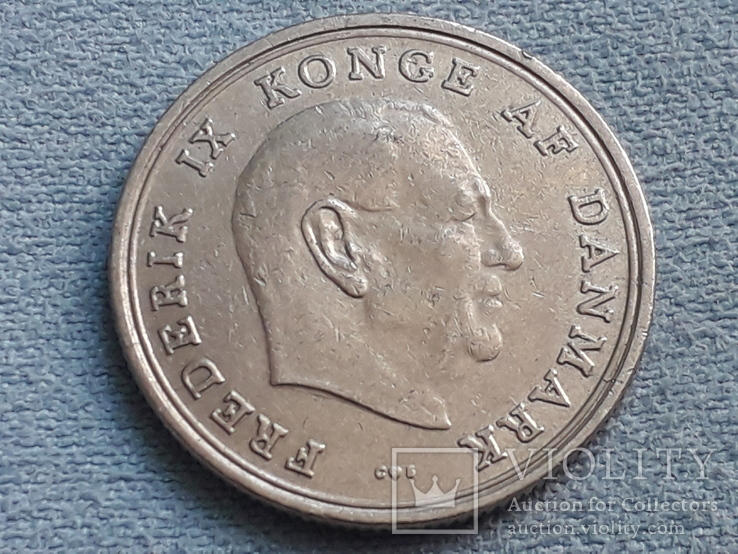 Дания 1 крона 1971 года, фото №2