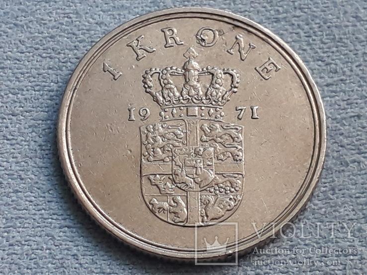Дания 1 крона 1971 года, фото №3