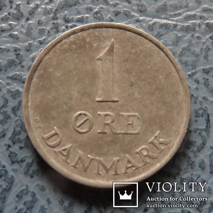 1  эре  1960  Дания  цинк   ($2.1.24)~, фото №3