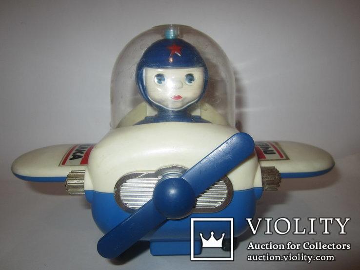 Инерционная игрушка самолёт Пчёлка 7руб СССР, фото №2