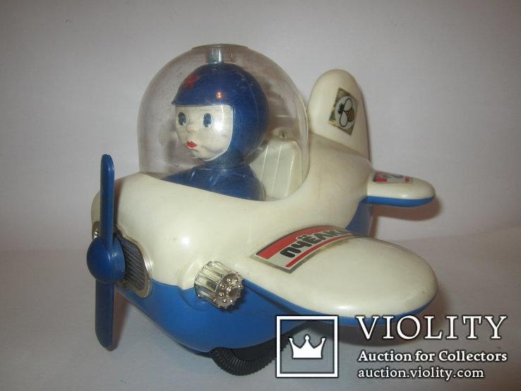 Инерционная игрушка самолёт Пчёлка 7руб СССР, фото №4