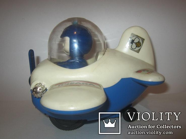 Инерционная игрушка самолёт Пчёлка 7руб СССР, фото №5