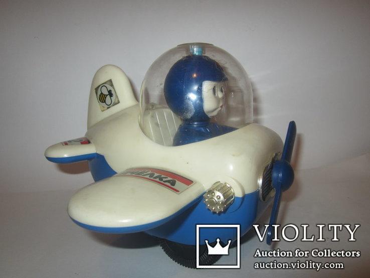 Инерционная игрушка самолёт Пчёлка 7руб СССР, фото №6