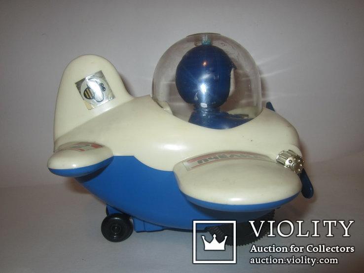 Инерционная игрушка самолёт Пчёлка 7руб СССР, фото №7
