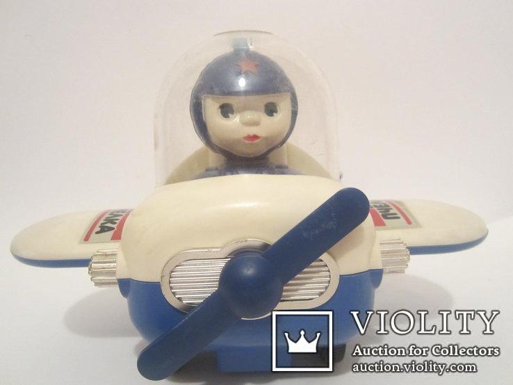 Инерционная игрушка самолёт Пчёлка 7руб СССР, фото №9