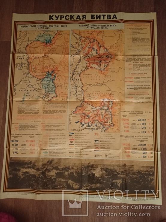 """Картографическая карта """" Курская битва """", фото №2"""