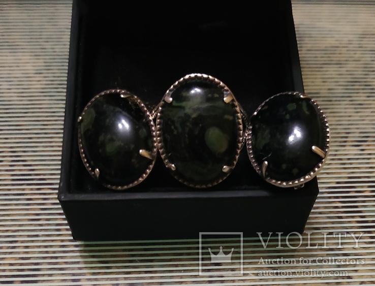 Набор Серьги и кольцо серебряные 925 пробы, фото №4