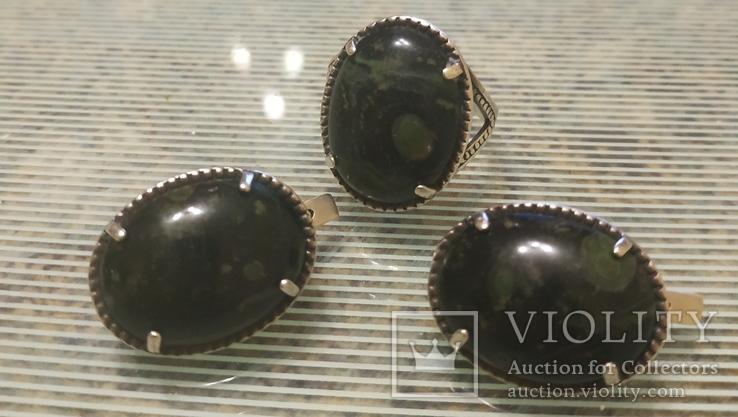 Набор Серьги и кольцо серебряные 925 пробы, фото №12