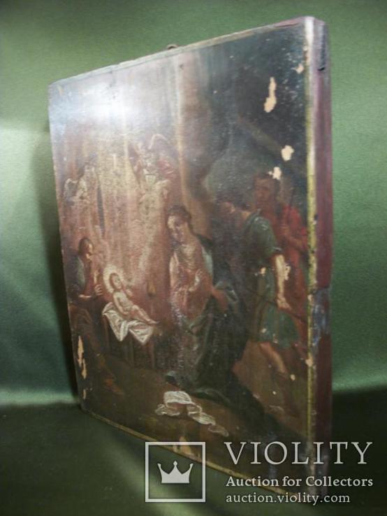 961 Икона Рождество Христово, масло, дерево. 19 век, фото №6