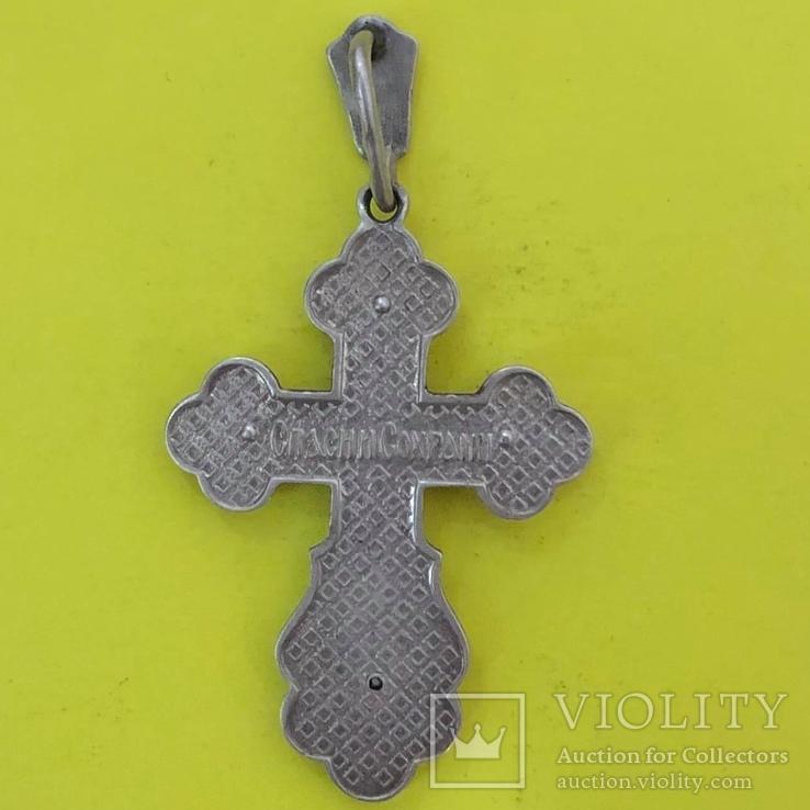 Хрест Срібло 925 проба. 6,56 грама., фото №3