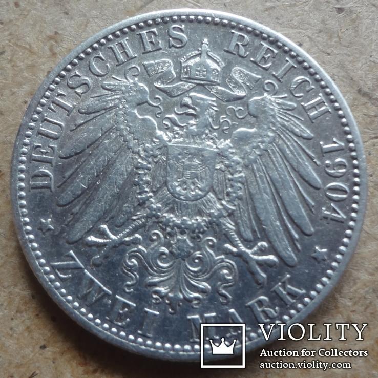 2  марки 1904  Вюртемберг, фото №3