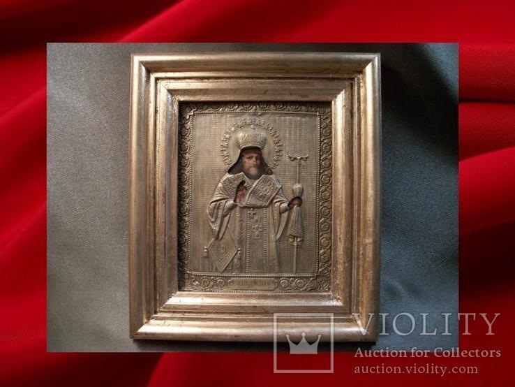 419 Икона Феодосий Черниговский, литография., фото №2