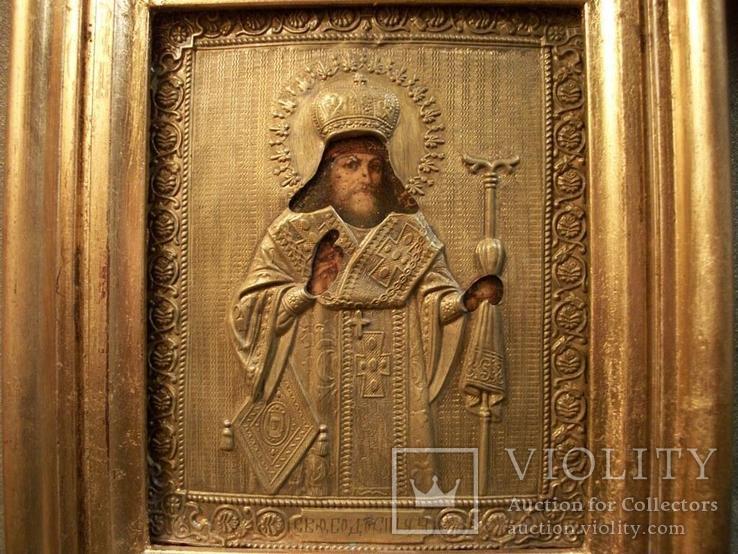 419 Икона Феодосий Черниговский, литография., фото №4